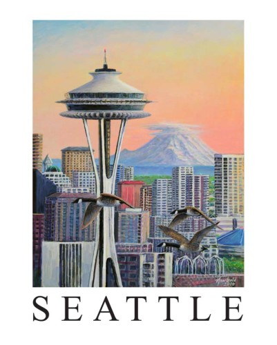 Space Needle 8 x10 miniposter