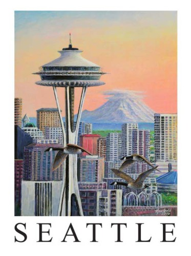 Space needle 14 x 18 for o store