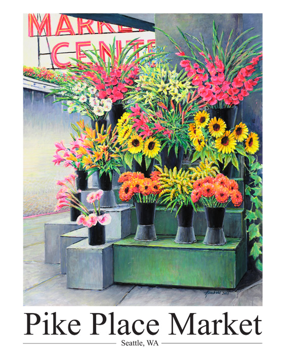 #257 Pike Place New Flowers (14 x 18)