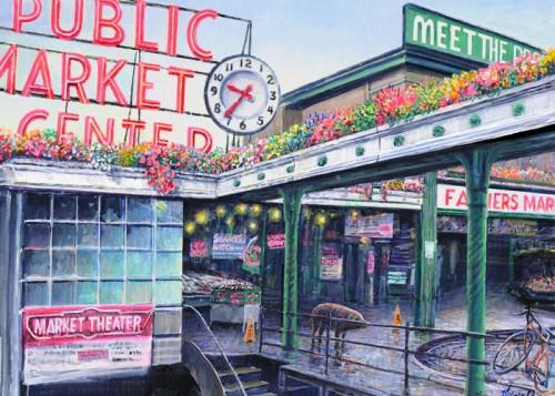 "#424 Pike Place Market (12 x 16"" horizontal)"