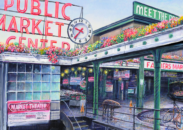 "#424 Pike Place Market (12 x 16"" horizontal)"