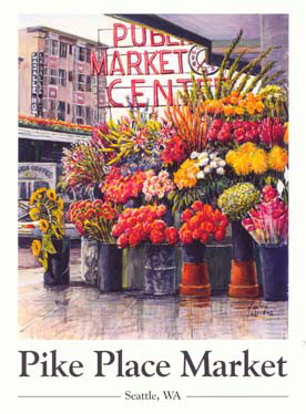 #267  Pike Place Flowers 18 x 24