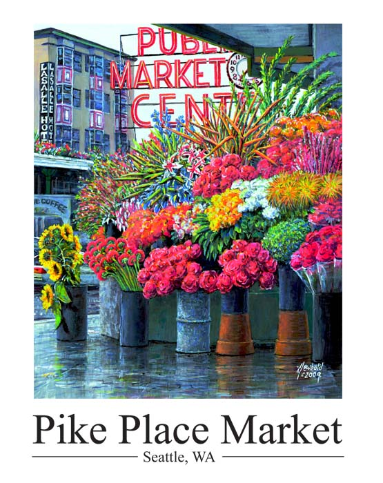 #261 Pike Place Flowers 14 x 18