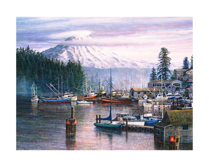 #118 The Harbor in Winter