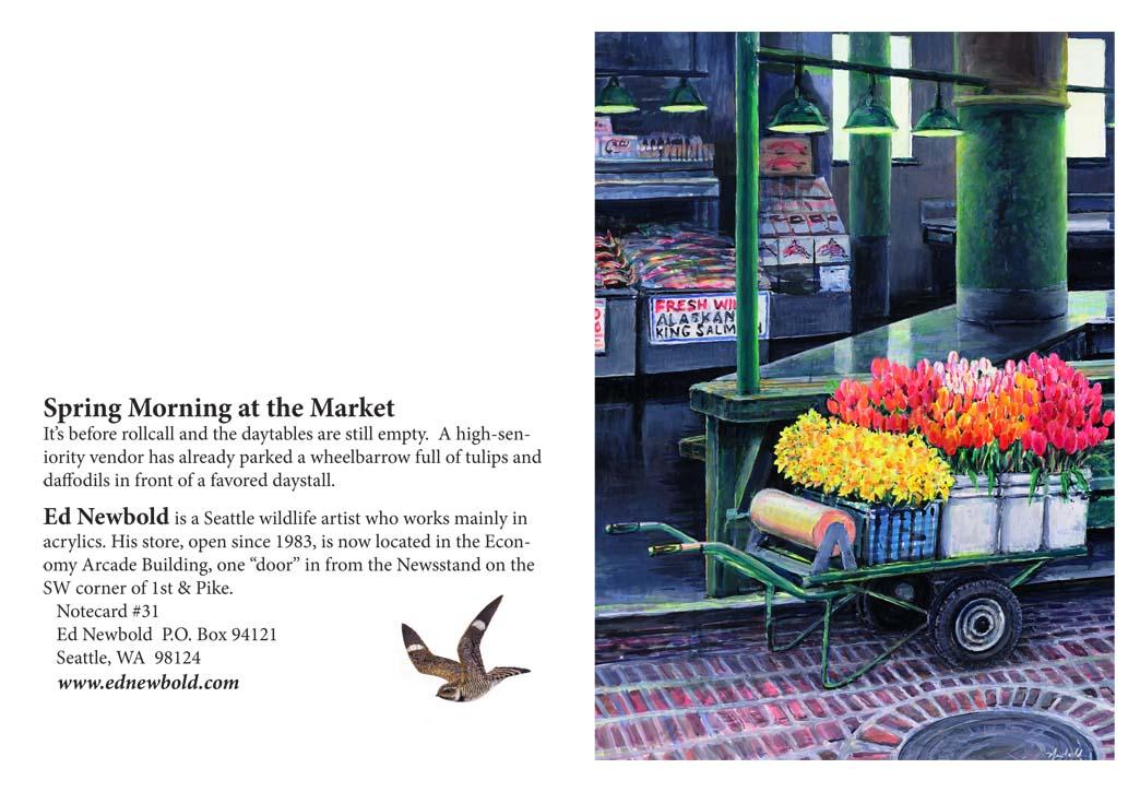 NC #31 Spring Morning at the Market