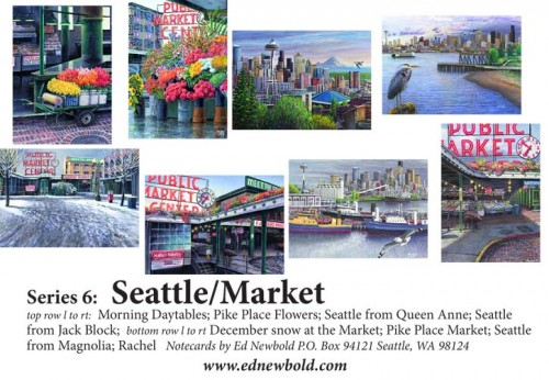 Series 6 Box of Notecards Seattle/Market