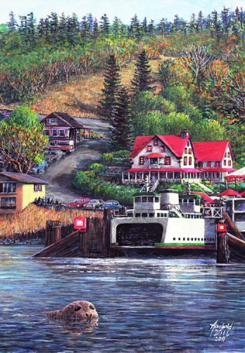 #457 All aboard for Anacortes (for 11 x 14 mat)