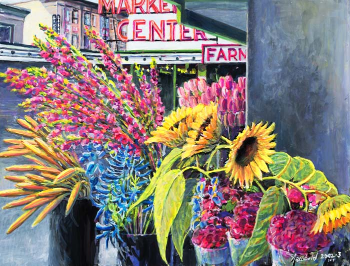 #435 Market Sunflowers (12 x 16)