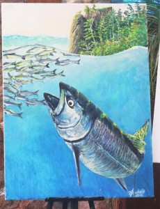 Easel Aug 15 king salmon