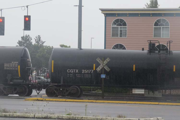 Here is an oil train car in Aberdeen, WA taken last Sunday Sept 20, 2015. Governments pay to develop disaster-response plans for oil trains and the public assumes most of the risk. This is a subsidy.