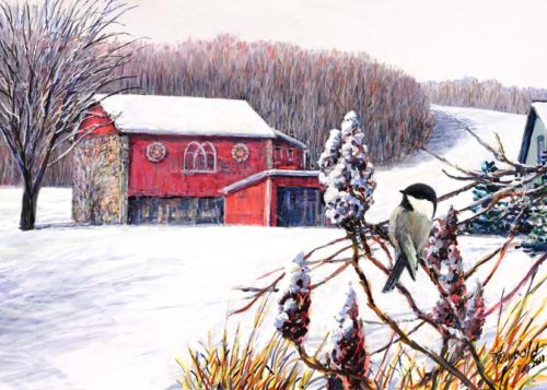 chickadee snow for 12 x 16 Nov 13 2017 for ws